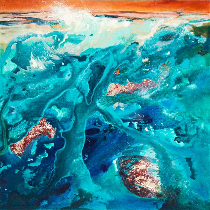 "A painting called ""Acqualescence #4"""