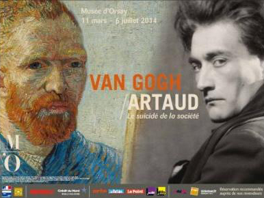 "Poster from ""Van Gogh & Artaud"" exhibition"