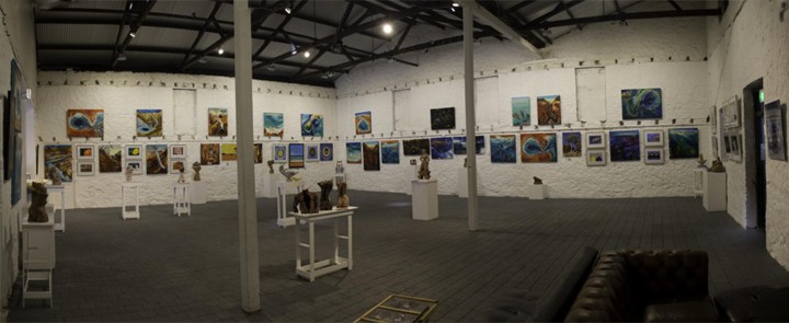 A photograph of the wa RAW artworks in the Moores Building Gallery