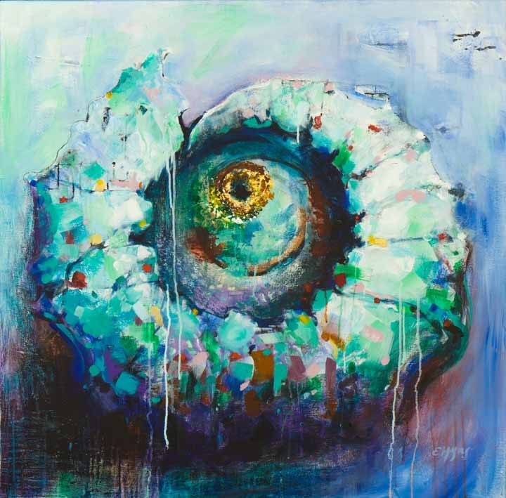 A painting called Ammonite #2