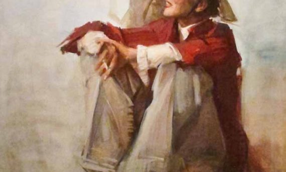 Katharine Hepburn, painted by Everett Raymond Kintsler, 1982, Smithsonian Institute of Art, Washington DC. (Used by permission of the artist)