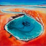 A painting called Little Lagoon, Shark Bay #7