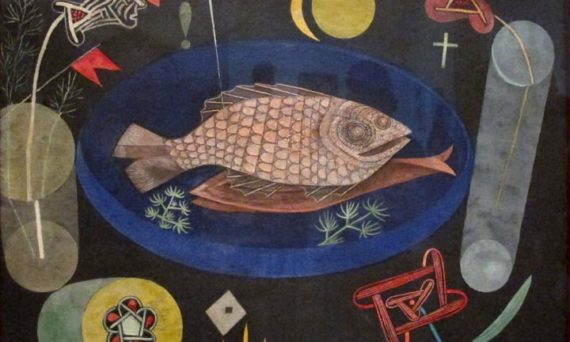 A painting called Around the Fish by Paul Klee