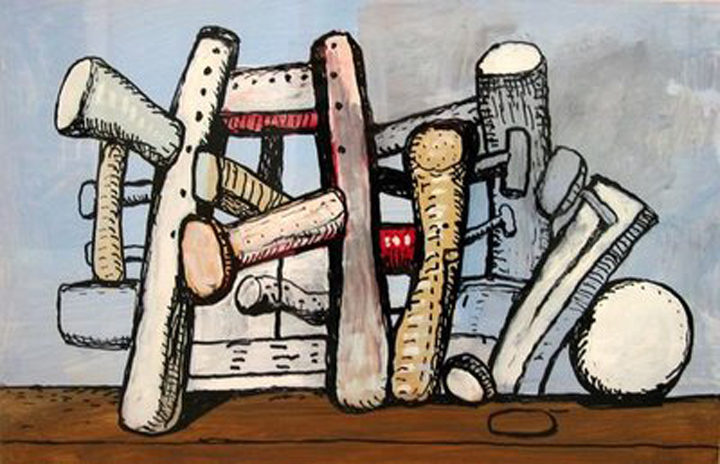 A painting called Untitled by Philip Guston 1980