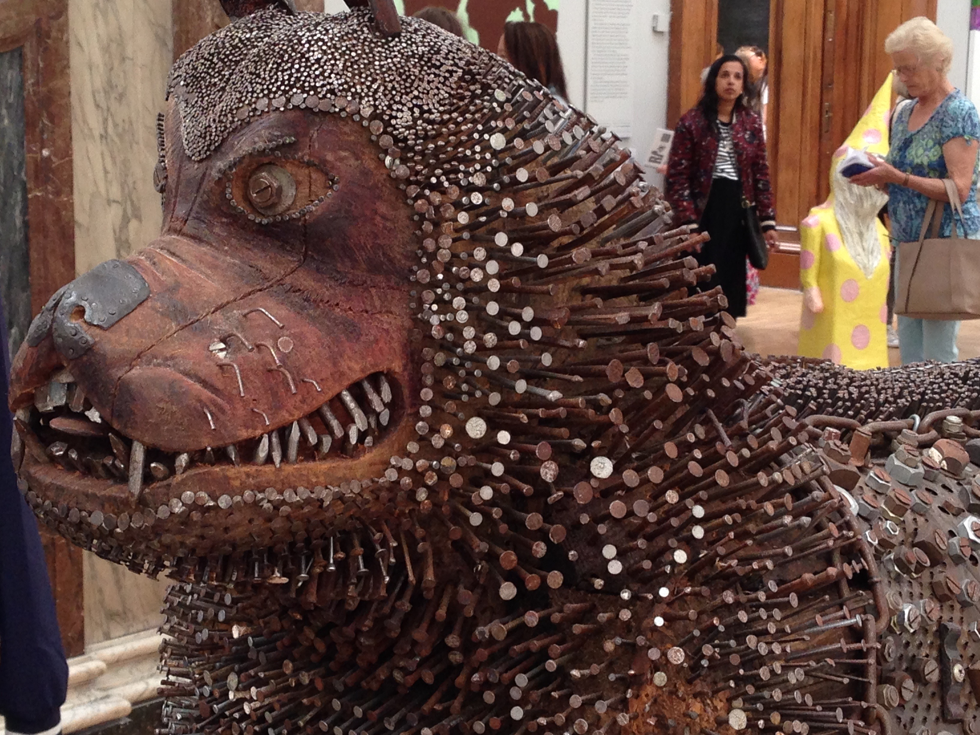 A sculpture by entitled Gnasher by Timothy Blewitt